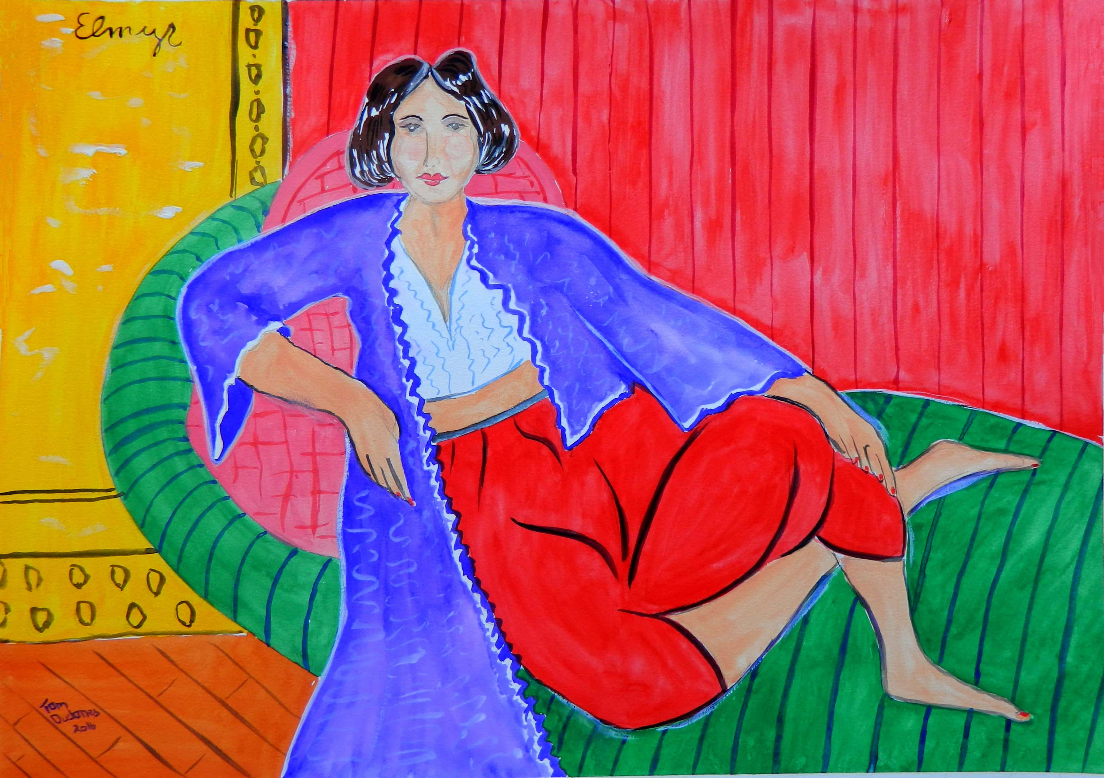 Одалиска. Элмир де Хори (1906-1976). В стиле Анри Матисса.