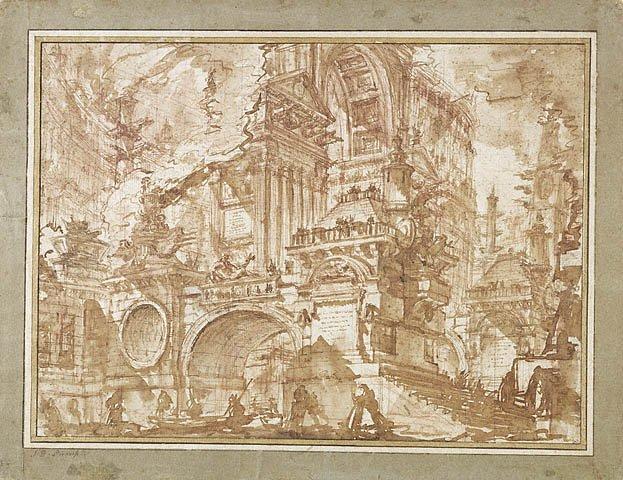 Пиранези. 1749—1750 гг. Оригинал приведенной выше подделки.