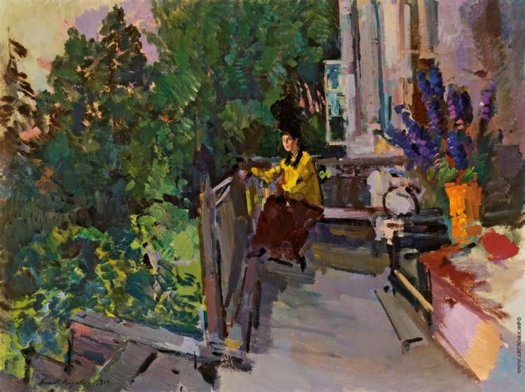 К. Коровин. «На террасе». 1919