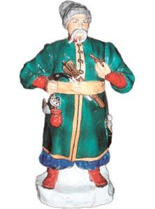 """Фарфоровая статуэтка """"Тарас Бульба"""". В.Щербина. Высота 40 см. Барановский фарфоровый завод."""