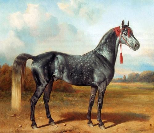 «Жеребец Крутой». Николай Сверчков. 1880-е гг. Холст, масло. 105x129,5.