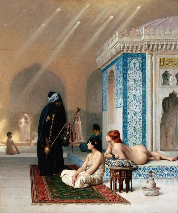«Бассейн в гареме». Жан Леон Жером. 1876.