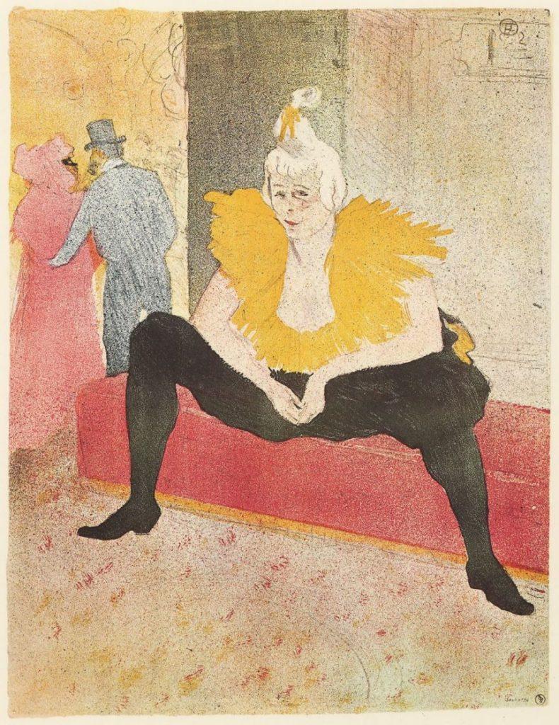 Сидящая Ша-У-Као (Мадмуазель Ша-У-Као). Анри Тулуз-Лотрек. 1896. Литография.