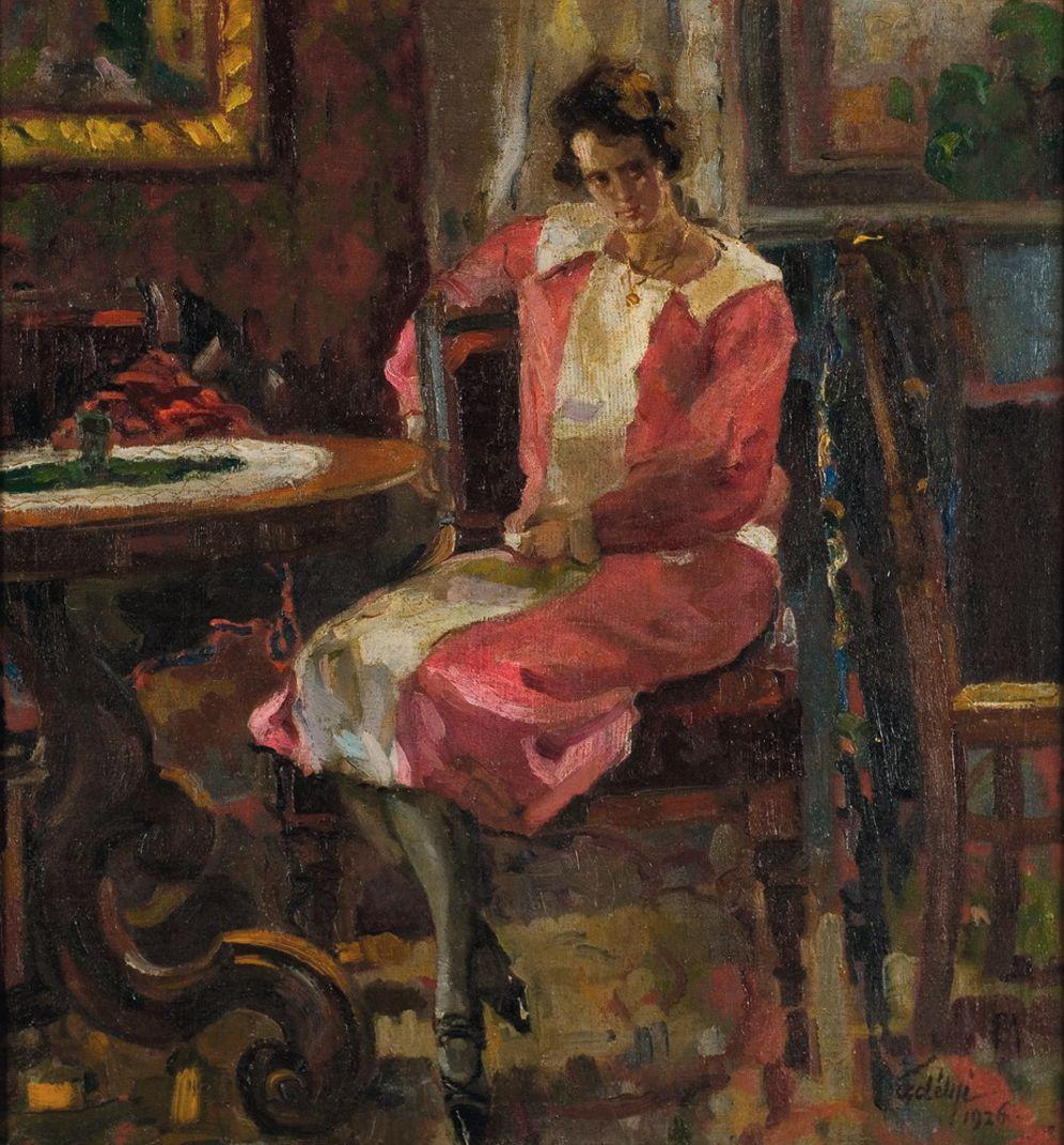 А. Эрдели. Женский портрет в интерьере. 1926. Х., м. 74×66см. «Эпоха», май 2008 — $90000