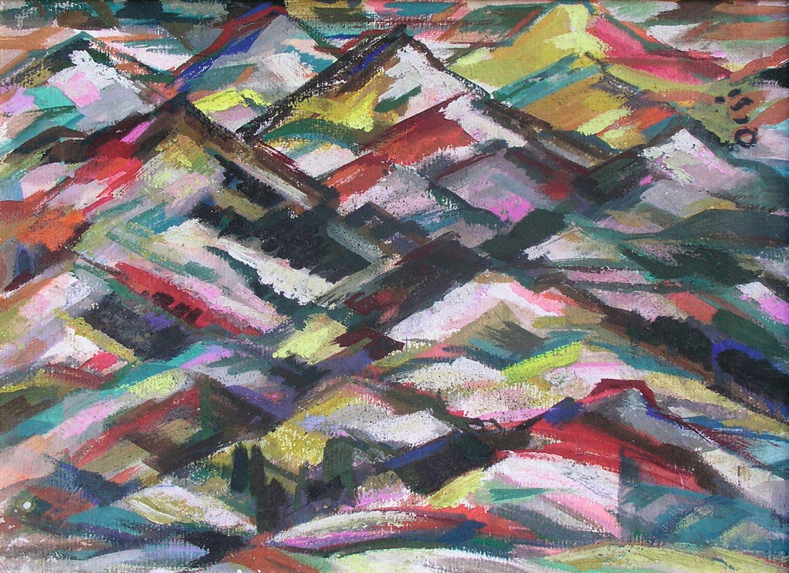 Ф. Семан. Горы. 1960-е гг. К., м. 49,5×67см. «Золотое сечение», декабрь 2010 (эст. $6000–8000)