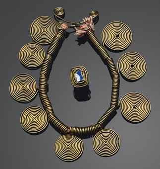 А.Колдер. Кольцо и ожерелье. Christie's, май 2011 - $506 тыс.