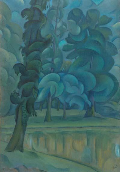 В.Баранов-Россине.На берегу озера. 1908-12
