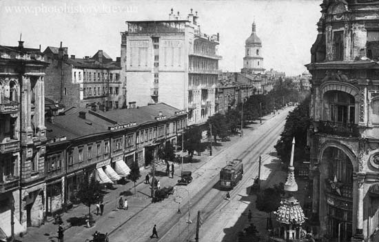Киев, ул. Короленко (Владимирская). Фото 1920-х годов