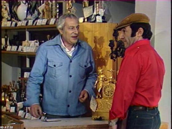 """Кадр из телефильма """"Подпасок с огурцом"""".1979."""