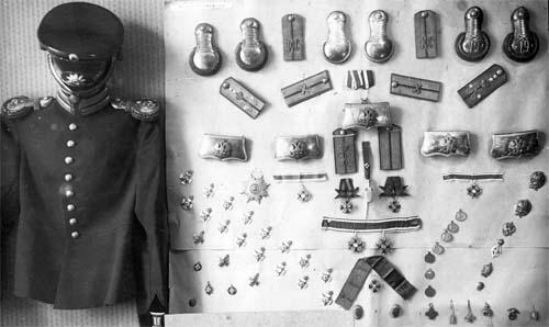 Военные реликвии, отобранные сотрудниками ГПУ у бывших преподавателей Константиновского артиллерийского училища. Фото из фондов ОГА СБУ