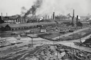 Юзовка, вид на завод с юго-запада, 1914 г.