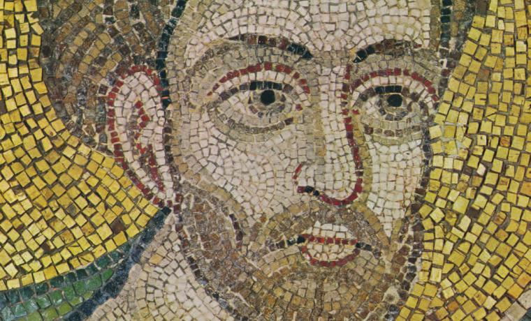 Апостол Лука. Фрагмент мозаики «Евхаристия» в главном алтаре Софийского собора в Киеве. XI в.