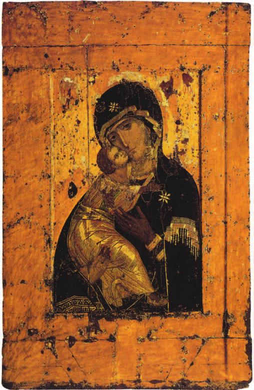 Владимирская икона Божией Матери. По преданию, является списком иконы, написанной апостолом Лукой. С 1131 г. находилась в Вышгороде под Киевом, с 1155— о Владимире-на-Клязьме, с 1395—в Москве.