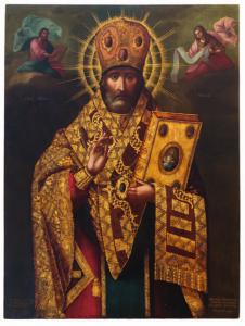 Икона «Святой Николай Чудотворец». 1817. Иконописная мастерская Киево-Печерской лавры