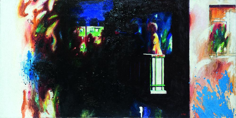 Т. Сильваши. Дом, в котором живёт Наташа. 1983. Х., м. 90×110см
