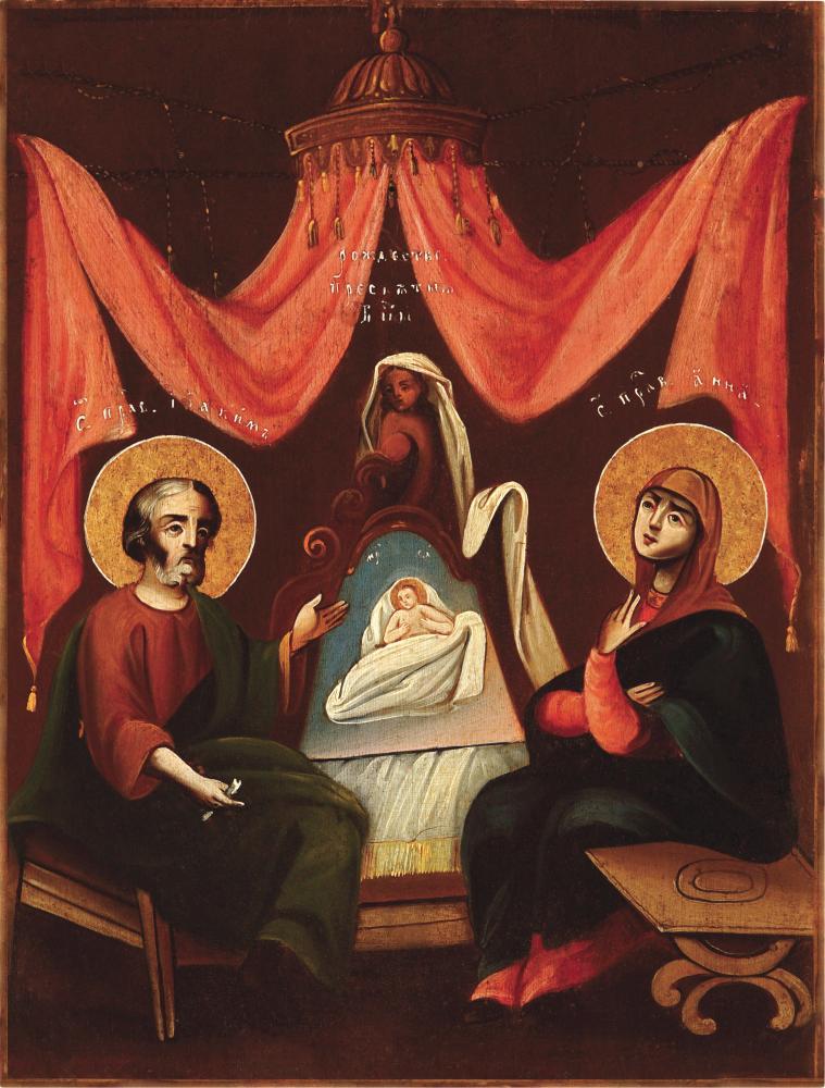Рождество Пресвятой Богородицы. Центральная Украина, XIX в. Дерево, темпера