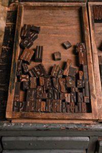 Фрагменты кассы литер старославянского алфавита, использовавшихся в XIX в.
