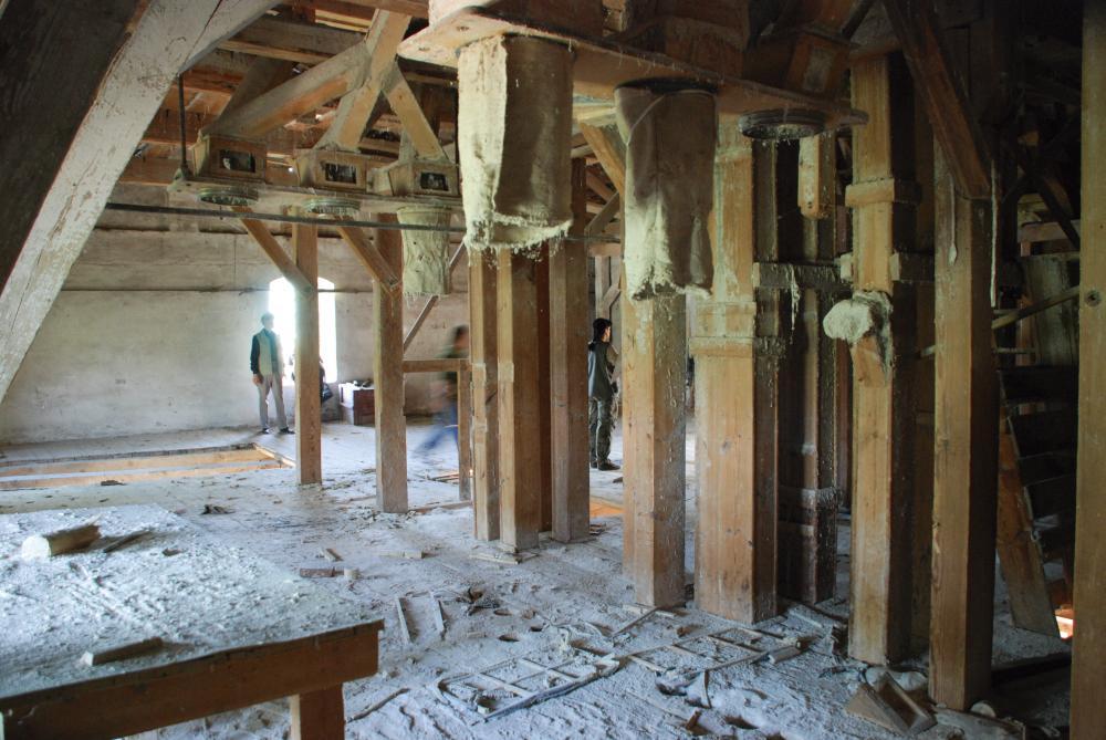 Частично сохранившееся оборудование мельницы. Фото 2007 г.