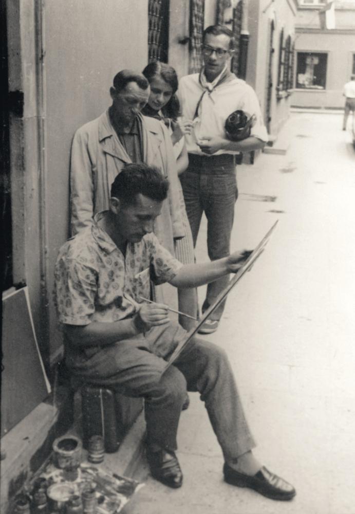Юрий Химич за работой. 1960-е гг.