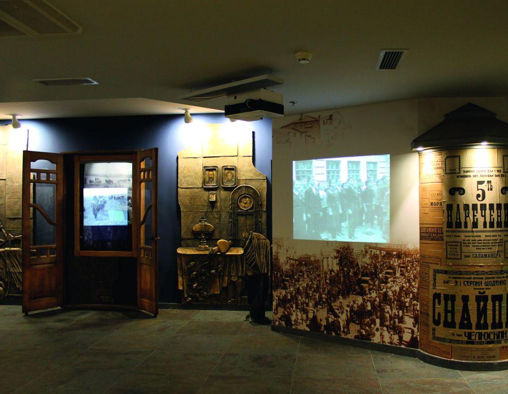 Фрагмент экспозиции музея «Память еврейского народа и Холокост в Украине» (Днепр)
