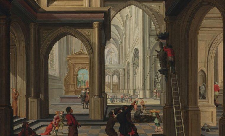 Дирк ван Делен. Иконоборцы в церкви. 1630. Д., м. 50×67см. Рийксмузеум
