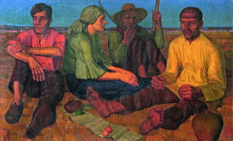 Картина А.Сиротенко «Отдых» (1927), экспонировавшаяся на выставке «Спецфонд 1937–1939 изколлекции НХМУ»