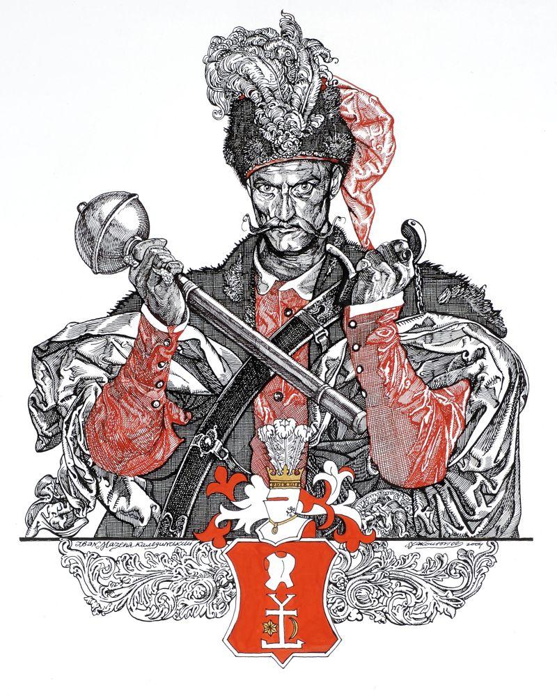 Мазепа. 2004. Тушь, перо. 42×59см
