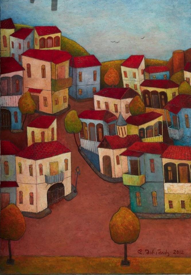 Город. (Часть триптиха.) 2012. Х., м. 100×70см