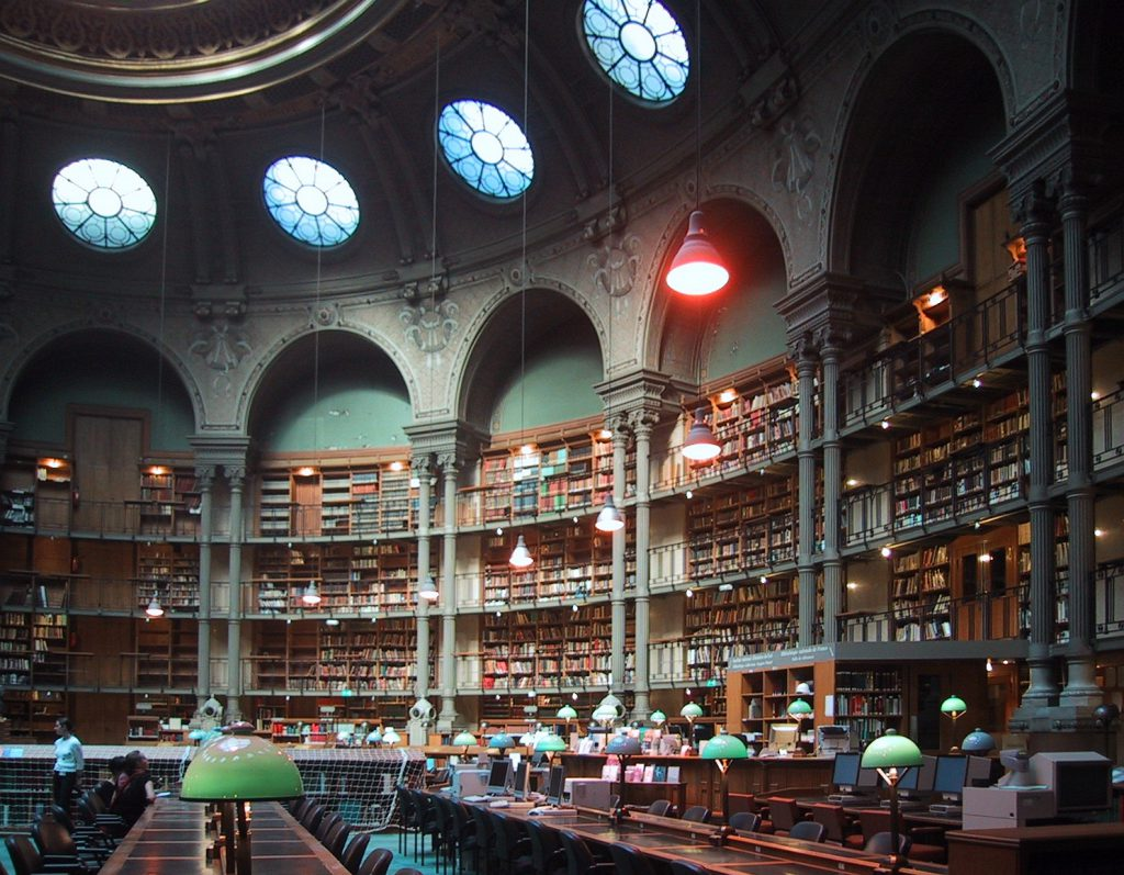 Овальный зал в здании библиотеки на улице Ришелье, архитектор Жан-Луи Паскаль