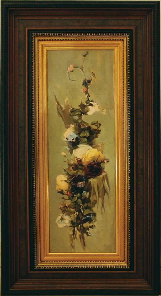 Цветы. Вариант сегмента живописи для плафона Красной гостиной. Х., м. 68,5 × 22 см. Собрание И. Понамарчука