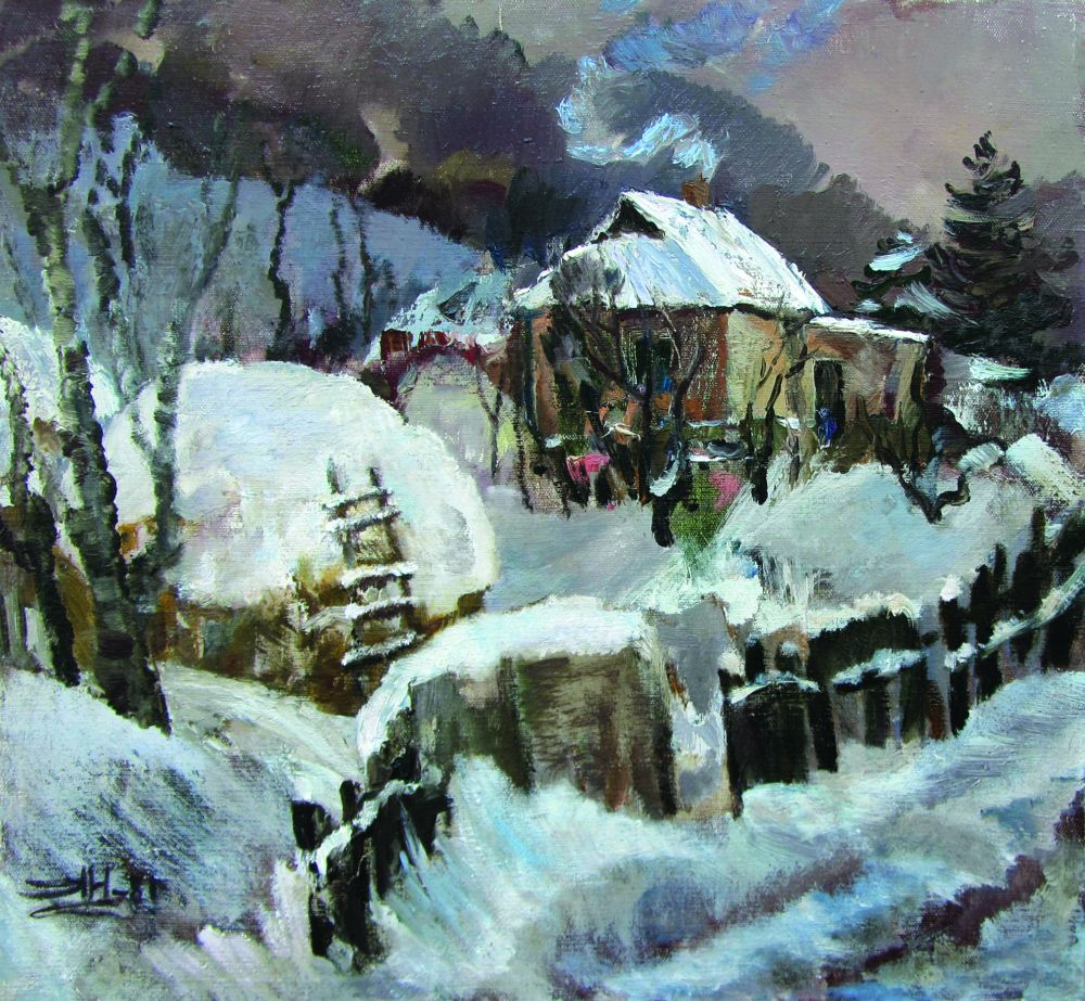 Зима. 1981. Х., м. 55×60см