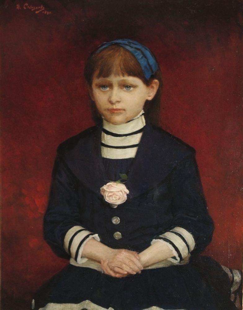 И.Селезнёв. Портрет Оли Терещенко. 1890