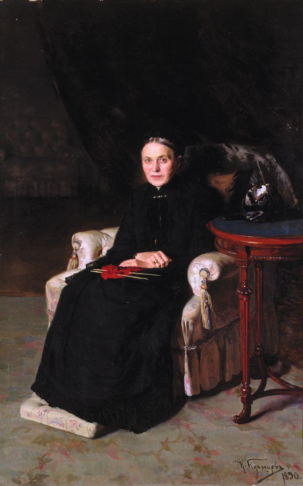 Н.Кузнецов. Портрет Пелагеи Терещенко, жены Н.А.Терещенко. 1890