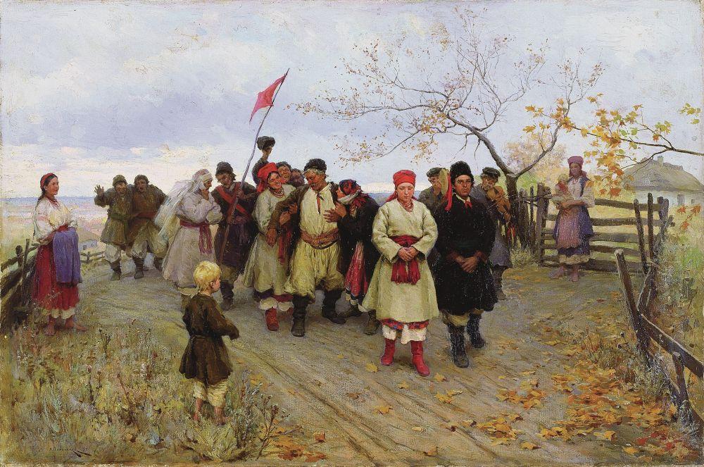 Н.Пимоненко. Свадьба вКиевской губернии. 1890