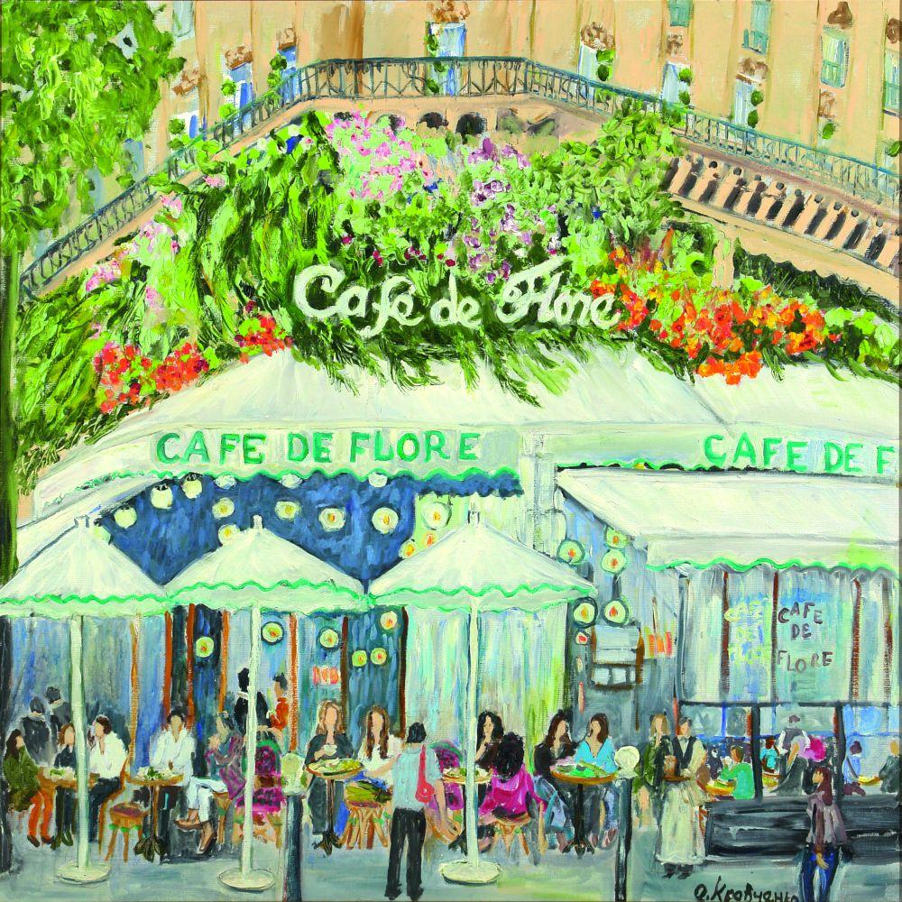 Café de Flore. 2008. Х., м. 80×80см