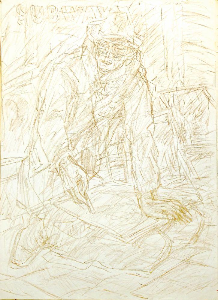 Тротуарный художник. Изсерии «Лондонская богема 50‑х». 1980‑е гг.