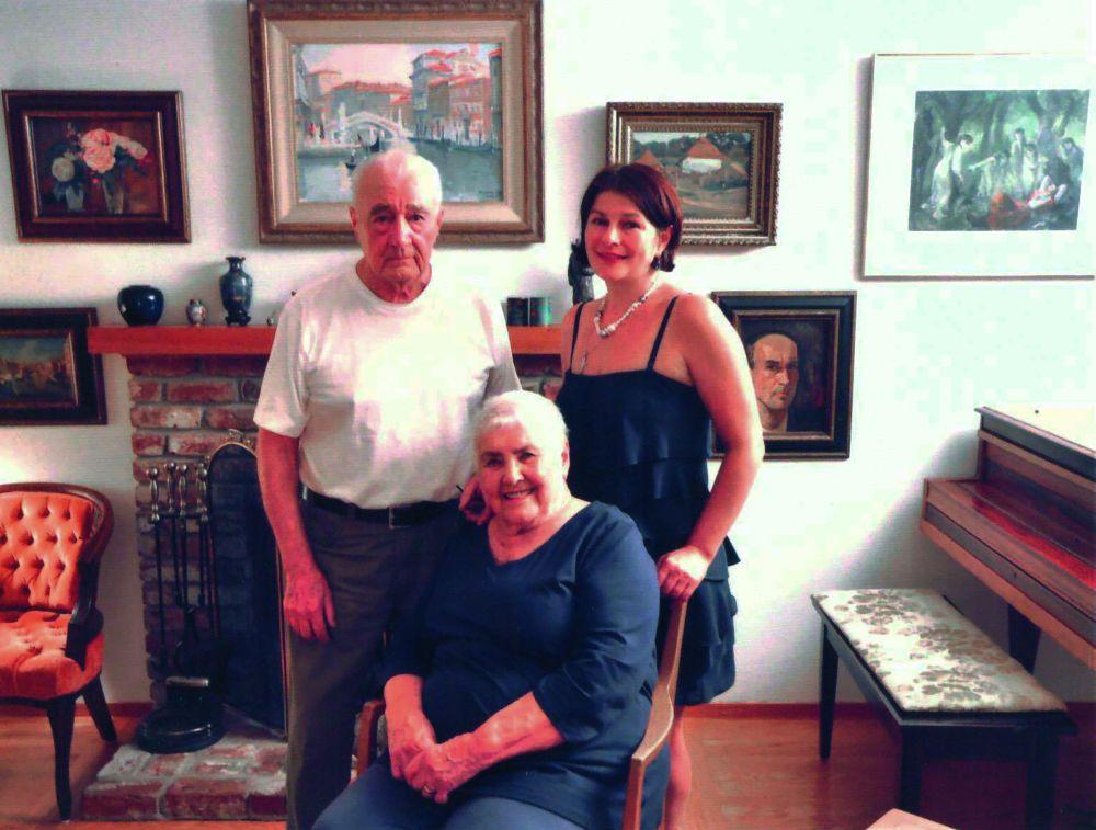 Директор Музея украинской диаспоры Оксана Пидсуха в гостях у Драго и Катерины. Маунтейн-Вью (Калифорния, США), 2015