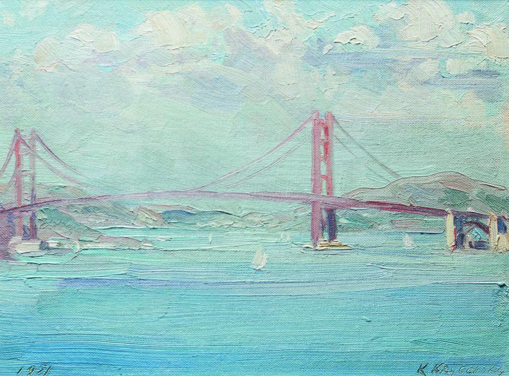 Сан-Франциско. 1951. К., м. 21×28см. Частное собрание, Киев