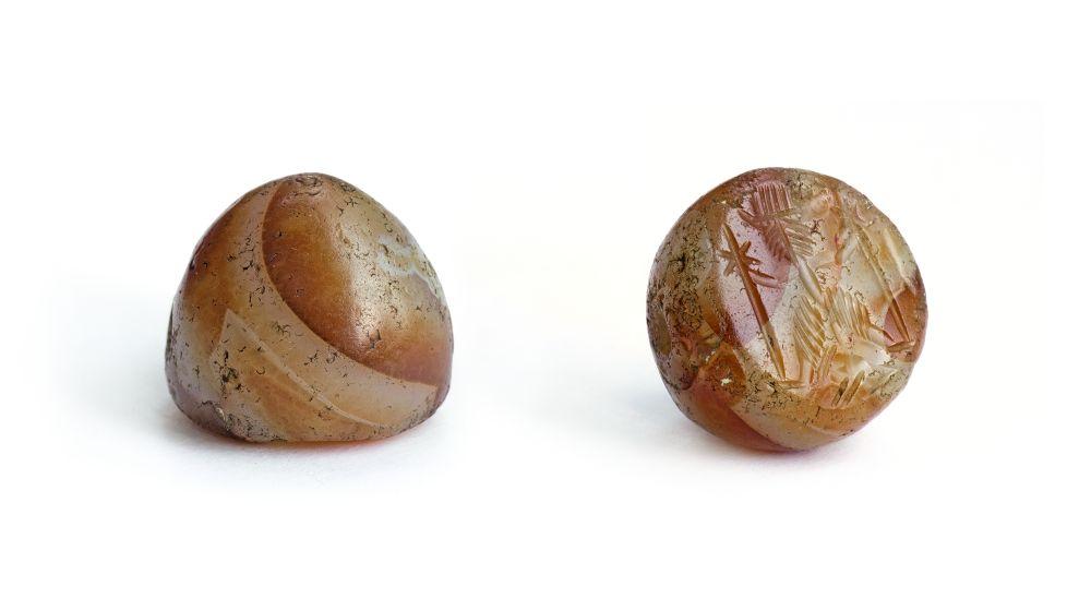 Сердоликовая печать. Кармир-Бердский могильник, 2‑е тысячелетие дон. э. Израскопок П.В.Чарковского