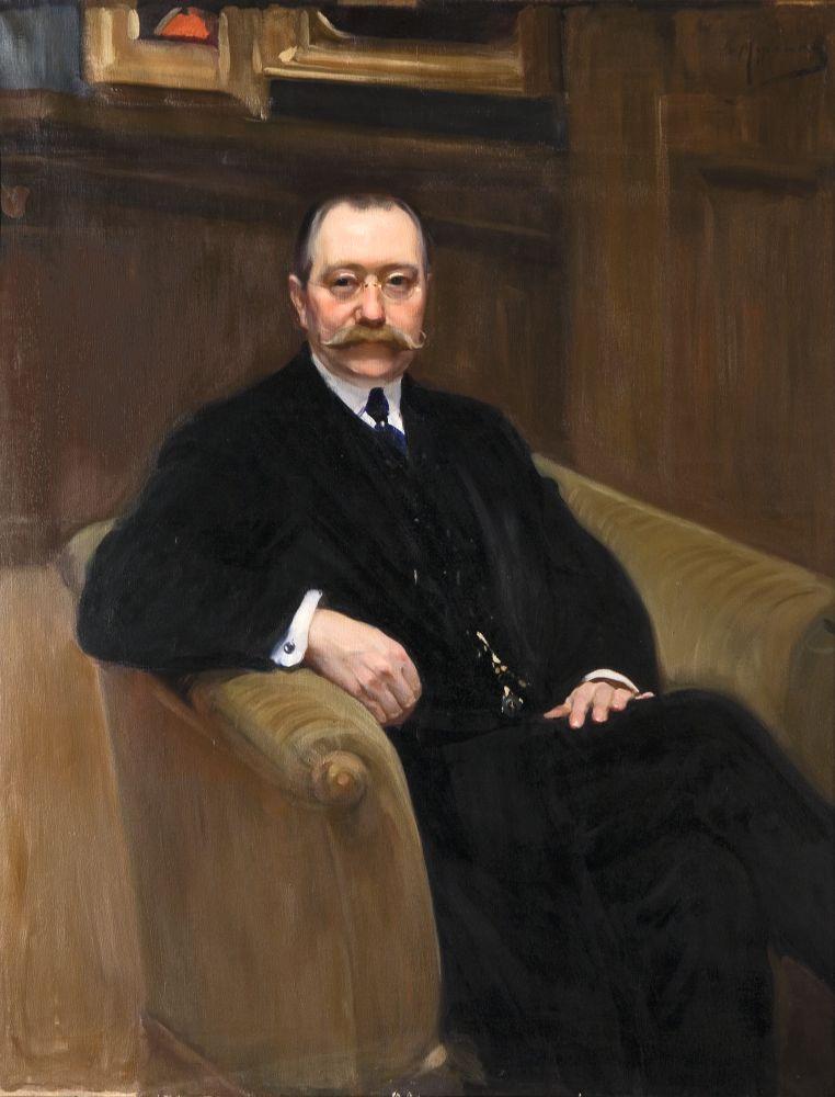 Портрет архитектора Г.П.Шлейфера. 1910. Х., м. 118,5×94,5см. НХМУ