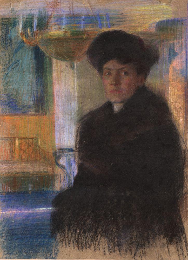 ПортретМаргариты Мурашко. 1914–1916. Серый картон, пастель. 93×63см. НХМУ