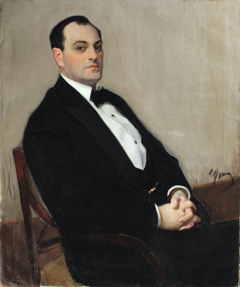 Портрет певца П.З.Андреева. 1908–1909. Х., м. 107×88см. Коллекция И. Понамарчука