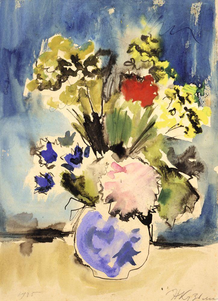 Н.В.Кузьмин(1890–1987). Цветы ввазе. 1935. Б., акв., тушь, перо. 39,7×27,2см. КНМРИ (изколлекции Д.Л.Сигалова)