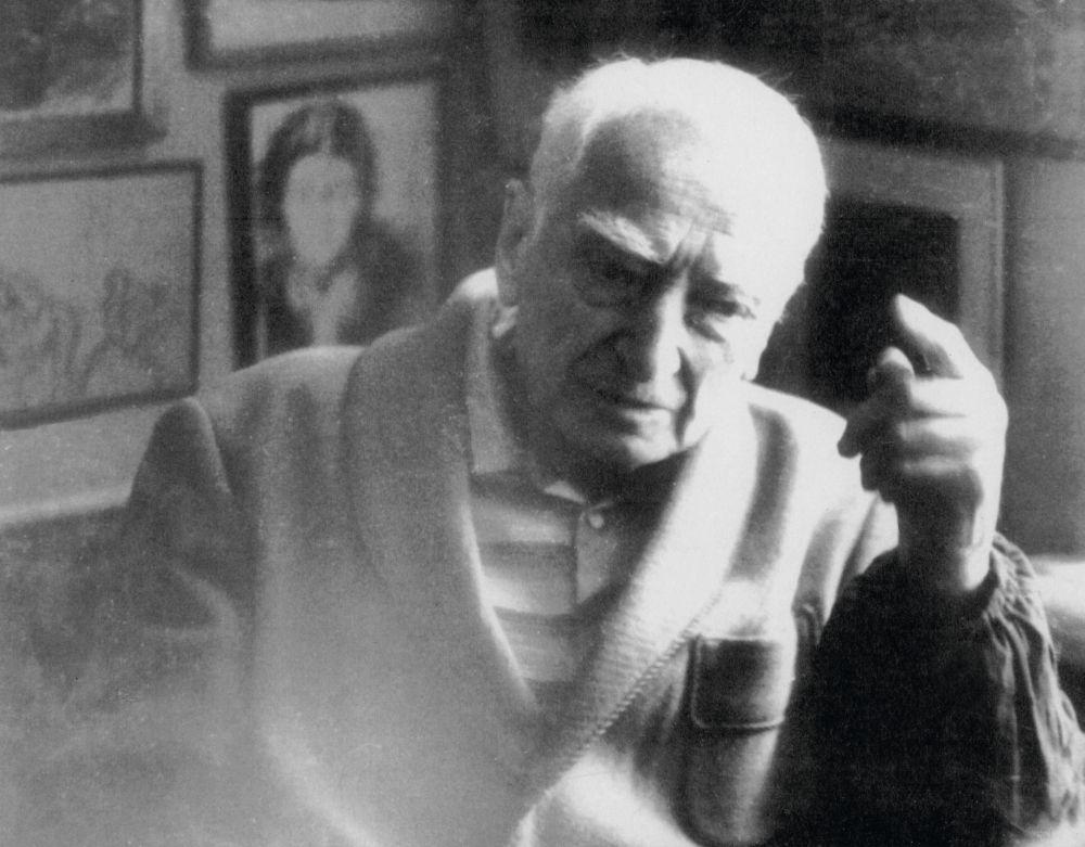 Д. Л. Сигалов в своей квартире на ул. Михайловской. Фото конца 1970-х гг.