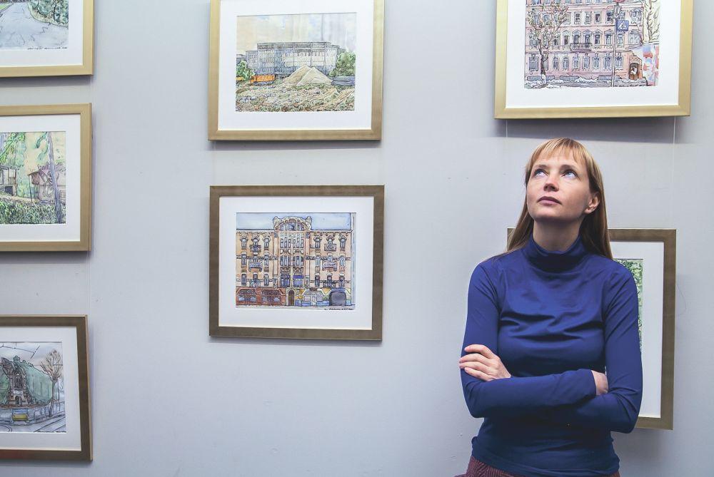 Аксинья Курина на выставке в Vozdvizhenka Arts House