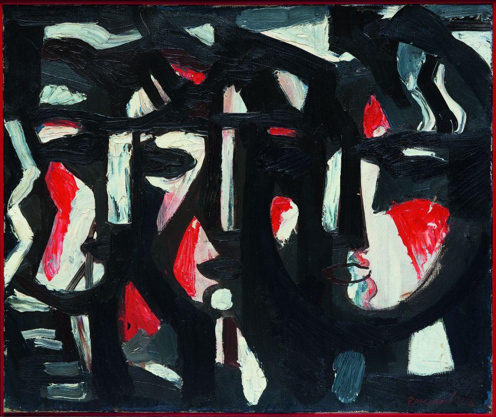 В.Григоров. Три лица. 1976. Х., м. 50×60см