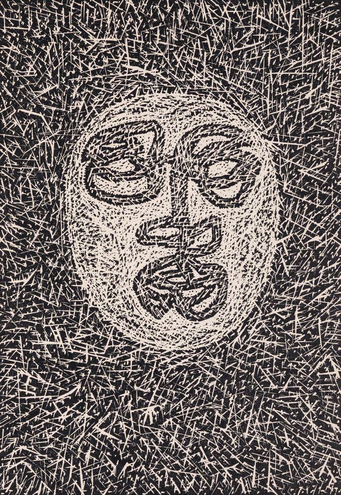 В.Барский. Маска. 1970‑е гг. Линогравюра. 38,6×27см