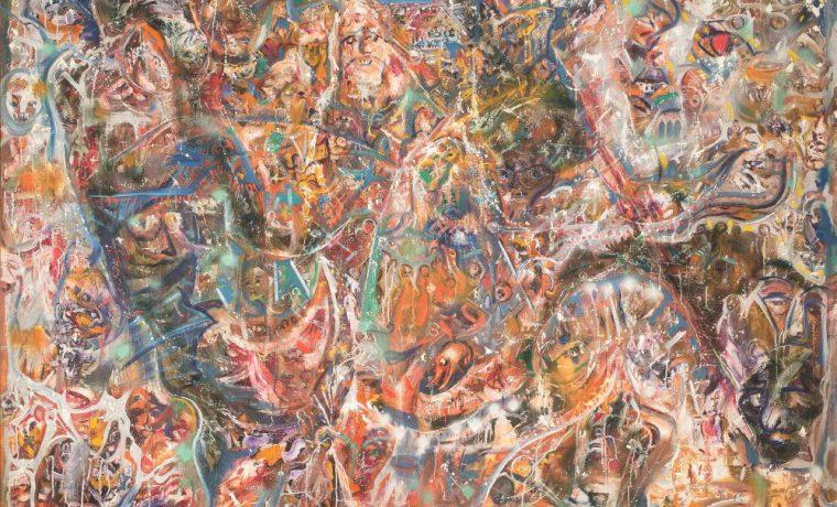 Ф.Тетянич(Фрипулья). Часть диптиха «Фрипулья—Диво Всесвіту, Фрипулья—Диво України». 1970–1977. Х., м. 200×200см