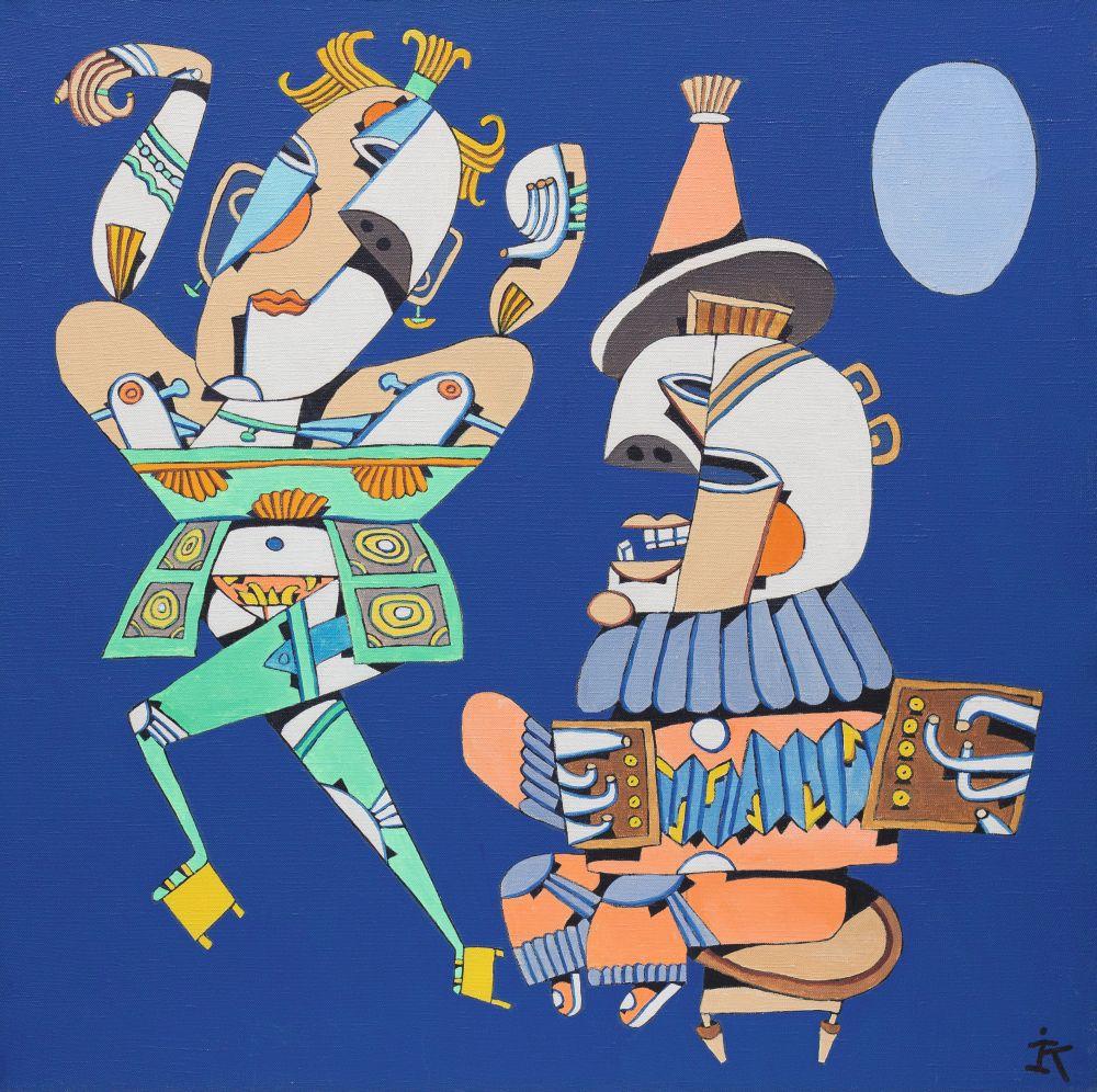 Антология танца. 2000. Х., м. 70×70см. Коллекция галереи «Яна»