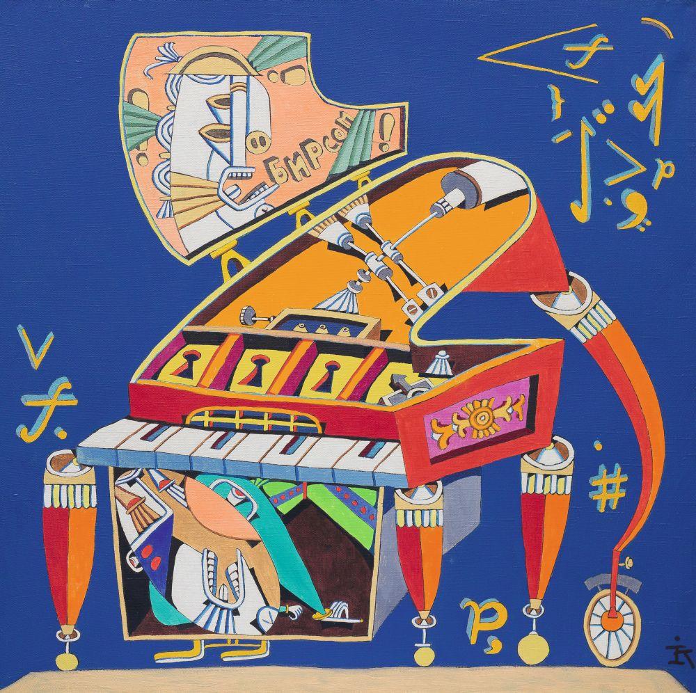 Амадей иЛеопольд (Моцарт иотец). 1997. Холст, масло. 70×70см. Коллекция галереи «Яна»